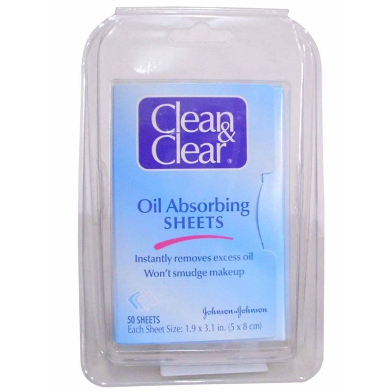how to use clean and clear oil absorbing sheets